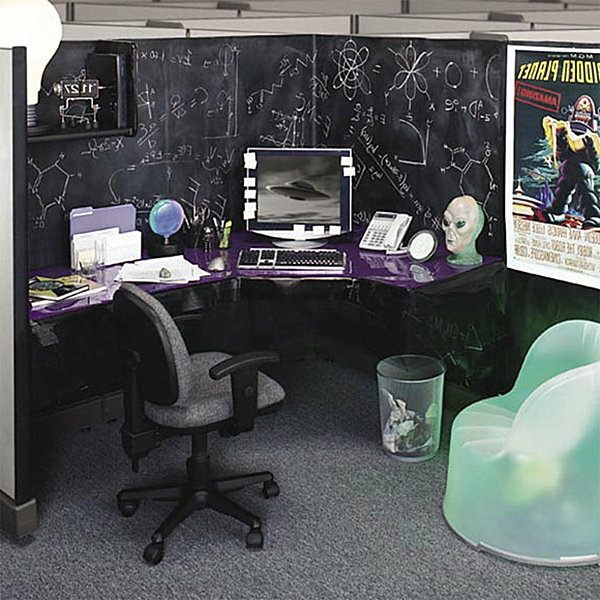 Arbeitsplatz Science-Fiction Motive Tafel