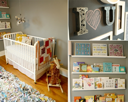 sch nes vintage babyzimmer design romantische niedliche atmosph re. Black Bedroom Furniture Sets. Home Design Ideas