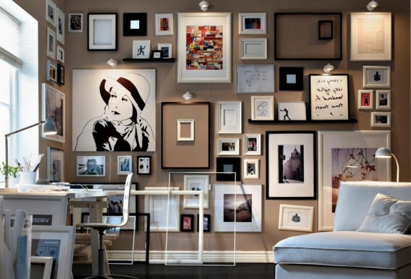 die kunst an der wand. Black Bedroom Furniture Sets. Home Design Ideas
