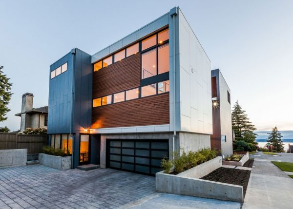 Modernes Haus in Seattle exterior architektur