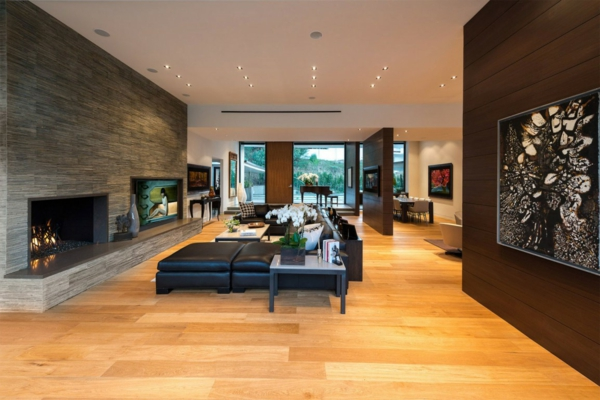 Wohnung Beverly Hills kamin couch holz