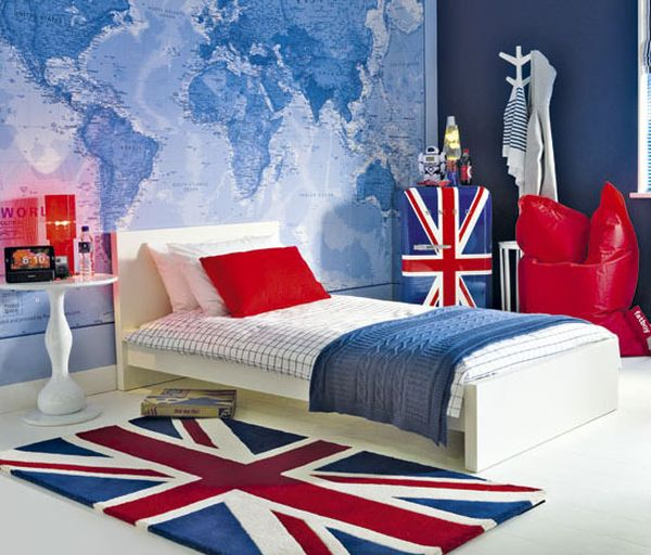 union jack möbel und deko ideen teenager stil