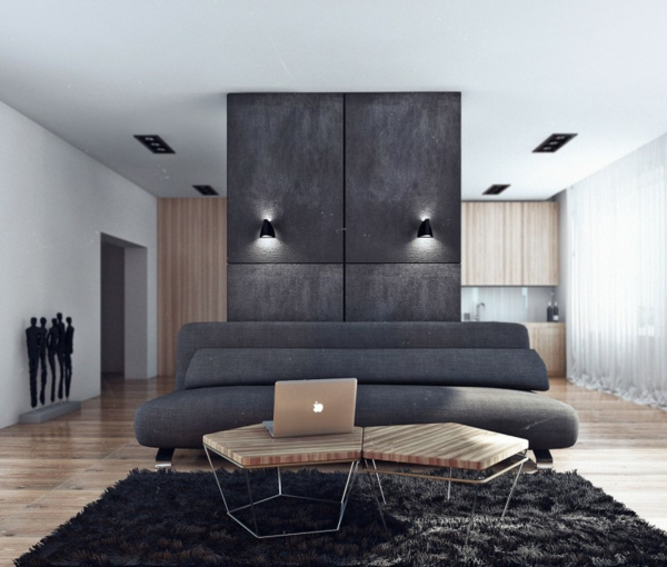 ein lcd moskau apartment eines junggesellen von angelina. Black Bedroom Furniture Sets. Home Design Ideas