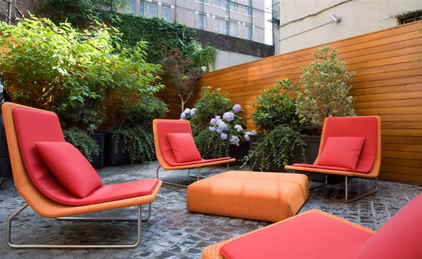 Ideen Patio rot orange stuhl tisch