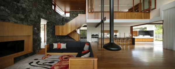 Privathaus  Brisbane couch holz treppe