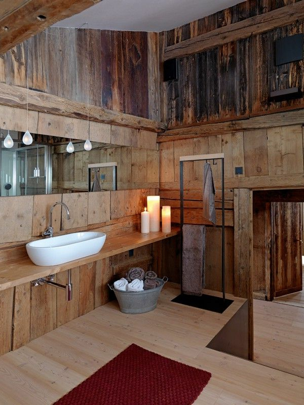23 fantastische rustikale badezimmer design ideen for Bad design holz