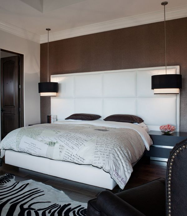 ideen f r bett beleuchtung pendelleuchten und wandlampen. Black Bedroom Furniture Sets. Home Design Ideas
