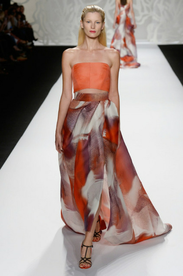 Fashion Week Trends bei der Hausgestaltung kleid orange