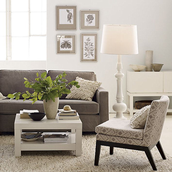 Contemporary Coffee Table With Bottom Shelf