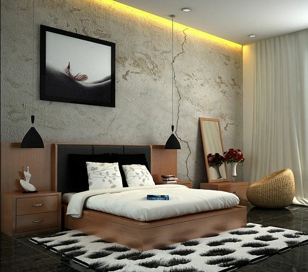 10 gro artige schwarz wei e schlafzimmer ideen. Black Bedroom Furniture Sets. Home Design Ideas