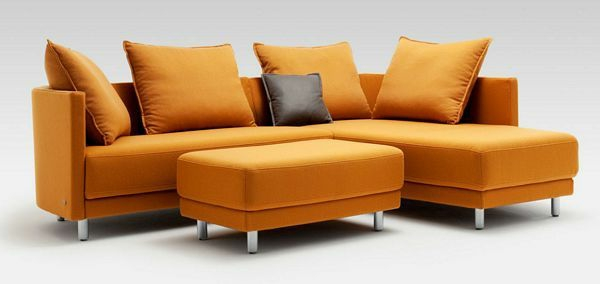 modular Sofas orange hocker kissen