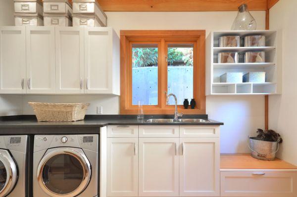 Laundry Room Cabinet Painting