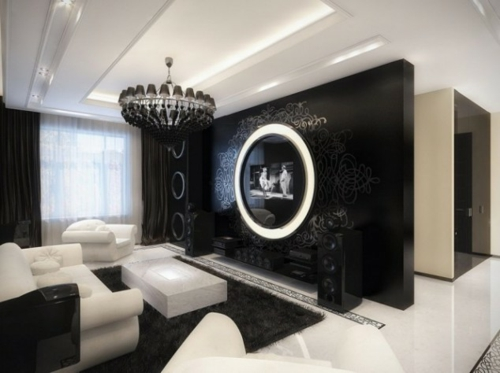 wohnzimmer farben bilden sie sch ne kontraste in schwarz wei. Black Bedroom Furniture Sets. Home Design Ideas