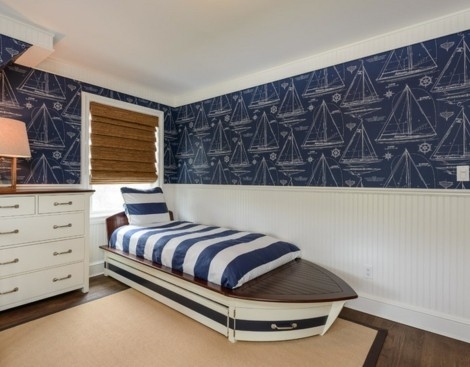 Painted Twin Bed Boys Room