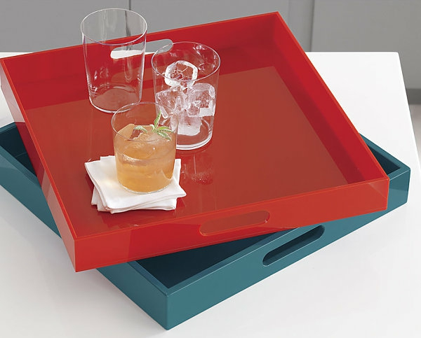 Farbenreich Interiors glas rot