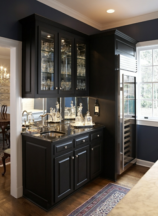 Black And Wood Kitchen Pinterest