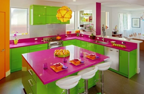 Kitchens Painted Lime Green