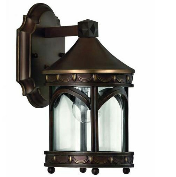 traditionelle Wandlampe braun cool
