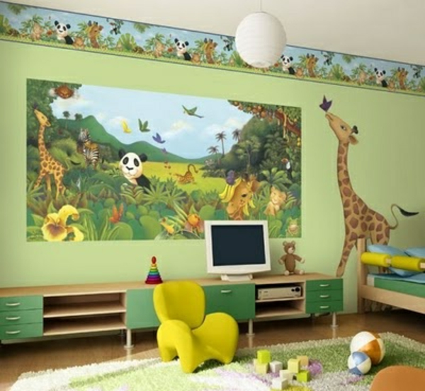 wall with wallpaper for the nursery joy studio design. Black Bedroom Furniture Sets. Home Design Ideas