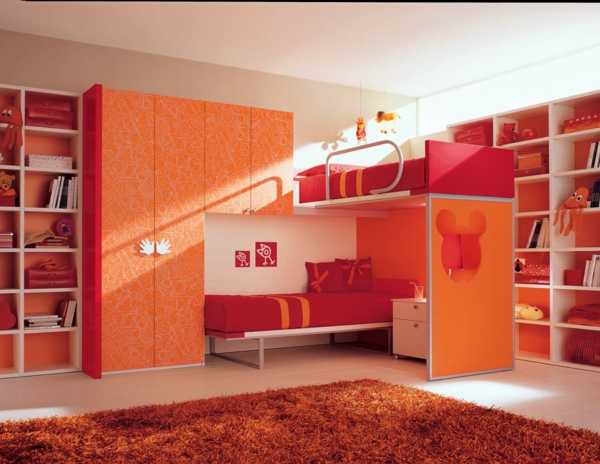 kinderzimmer rot orange ihr traumhaus ideen. Black Bedroom Furniture Sets. Home Design Ideas