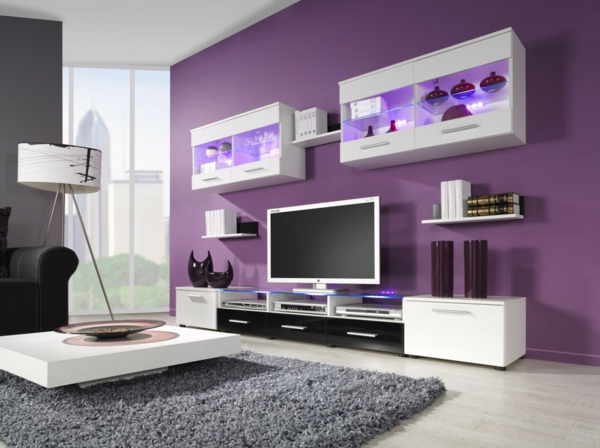 Purple Lounge Decorating Ideas