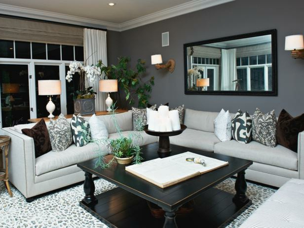 Leather Sofa Inspiration In Gray Livings Room