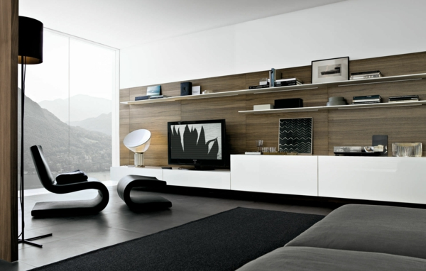 wohnwand deko ideen neuesten design. Black Bedroom Furniture Sets. Home Design Ideas