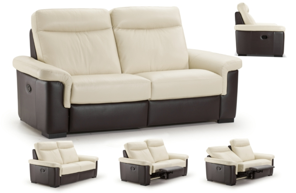 Sofa leder beige Relaxfunktion stressless design