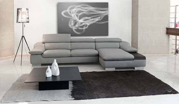 Sofa mit Relaxfunktion stressless grau stoff