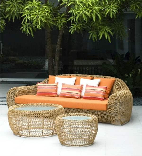 rattan terrassenm bel f r eine erholungsoase. Black Bedroom Furniture Sets. Home Design Ideas