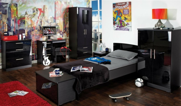 coole tapeten f rs teenagerzimmer wundersch ne ideen. Black Bedroom Furniture Sets. Home Design Ideas