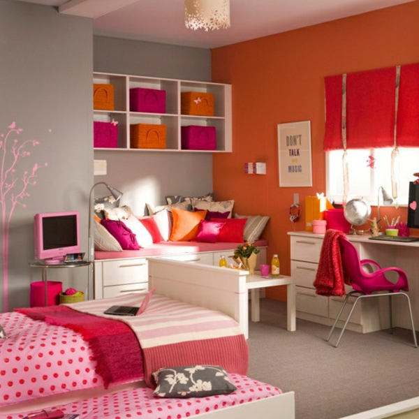 Wohnzimmer rot orange  Awesome Wohnzimmer Orange Rot Gallery - House Design Ideas ...