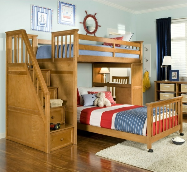 Twin Bunk Bed With Bookshelf