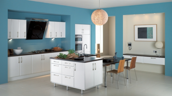 Kitchen Color Schemes With White Floors