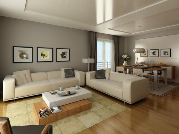 Moderne Wanddekoration Wohnzimmer : Modern Living Rooms Colors Ideas