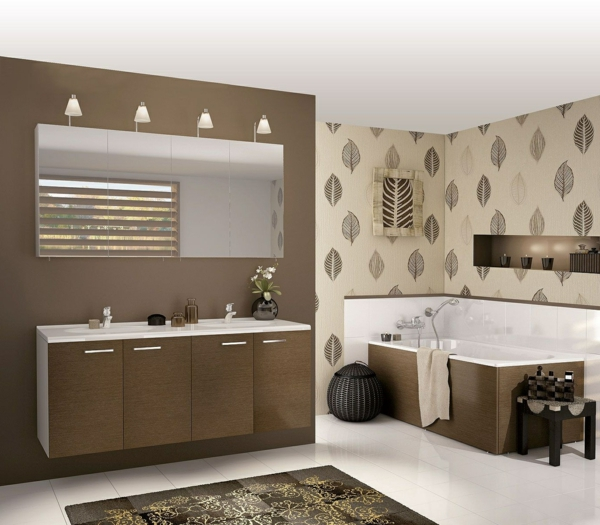 Badezimmer landhausstil modern: tapeten fr bad landhausstil ...