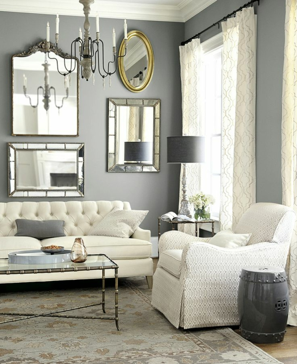25 Charming Shabby Chic Living Room Decoration Ideas: Wanddekoration Auf Eine Tolle Art Und