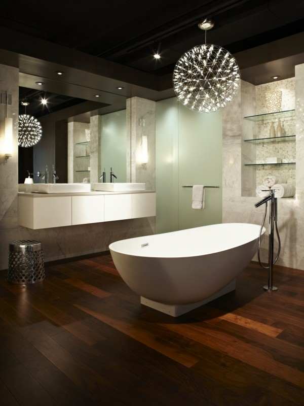 Lampe Dusche Decke : Modern Bathroom Lighting Ideas
