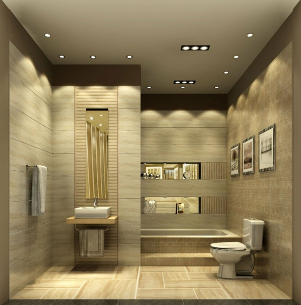 Bathroom Ideas For Low Ceilings : Ideen f?r badbeleuchtung decke effektvolle und