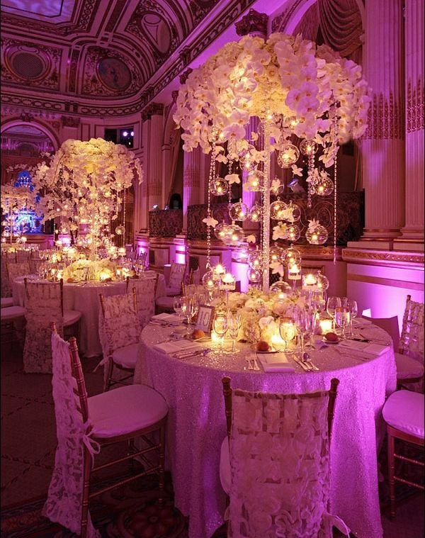 Image Result For Purple And Gold Wedding Centerpiece Ideas