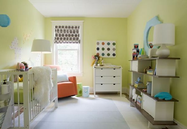 Lime Green Painted Rooms