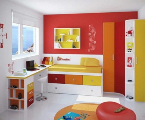 kinderzimmer junge wandgestaltung gr n blau. Black Bedroom Furniture Sets. Home Design Ideas