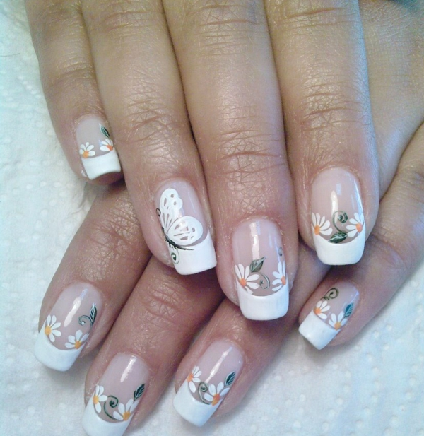 Gel Nails With One Design Nail