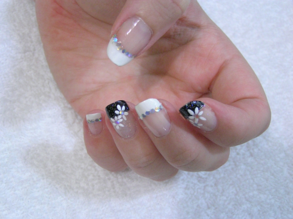 French White Nail Art Designs