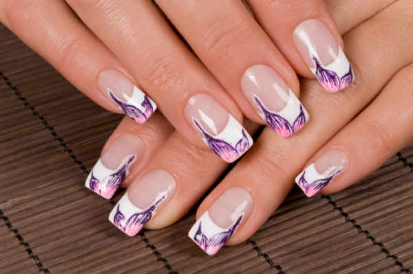 nageldesigns french nails muster - Schone Nagel Muster