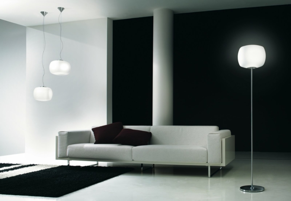 stehlampen peppen innenr ume mit tollen nuancen auf. Black Bedroom Furniture Sets. Home Design Ideas