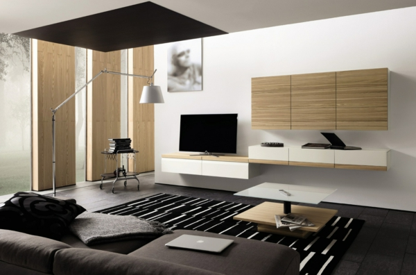 Awesome Wohnzimmer Schwarz Holz Pictures - Rellik.us - rellik.us