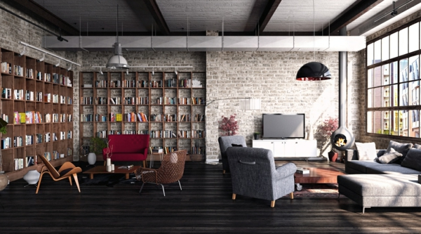 Designs for walls of living room