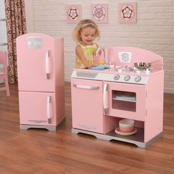 Wooden Kitchen Play Sets For Toddlers With Table And Chairs