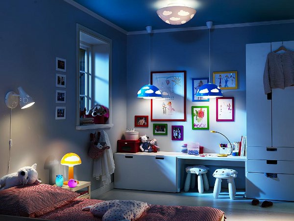 lampenschirm im kinderzimmer der charme dieses interieur. Black Bedroom Furniture Sets. Home Design Ideas